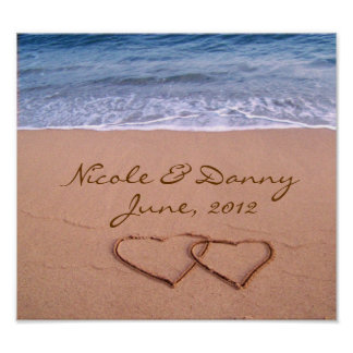 Amor de encargo en el poster de la playa con la