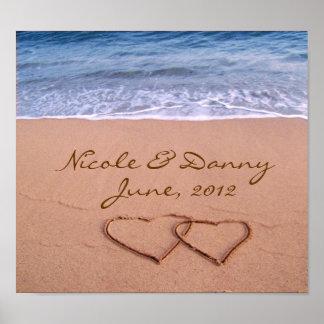 Amor de encargo en el poster de la playa con la póster