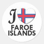 Amor de Faroe Island Etiqueta Redonda