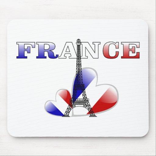 Amor de Francia Tapete De Ratón