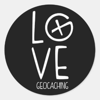 Amor de Geocaching Pegatina Redonda