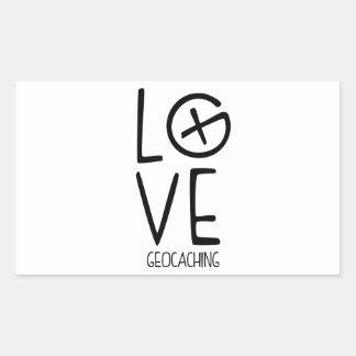 Amor de Geocaching Pegatina Rectangular