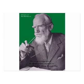 Amor de George B Shaw/regalos y tarjetas de la exa Postal
