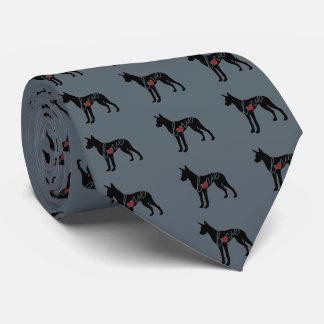 Amor de great dane corbata