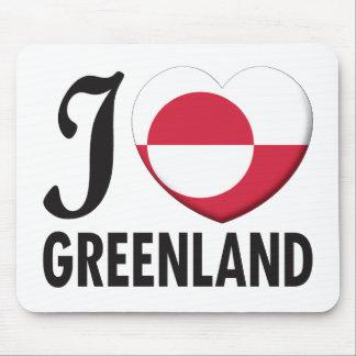 Amor de Groenlandia Tapetes De Ratón