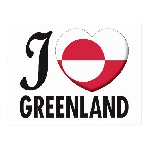 Amor de Groenlandia Tarjetas Postales