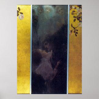 Amor de Gustavo Klimt Póster