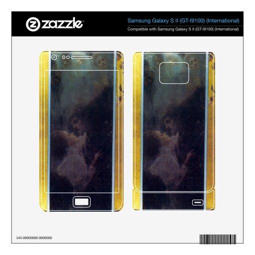 Amor de Gustavo Klimt Samsung Galaxy S II Skins