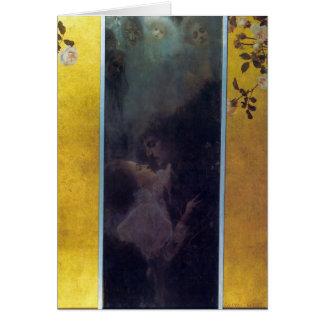 Amor de Gustavo Klimt Tarjeta De Felicitación