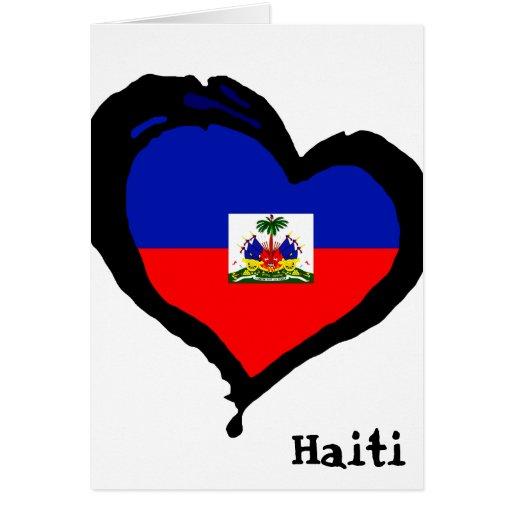 Amor de Haití Tarjeta De Felicitación