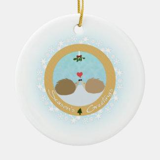 Amor de Hedgie - ornamento de los saludos de la Adorno De Navidad