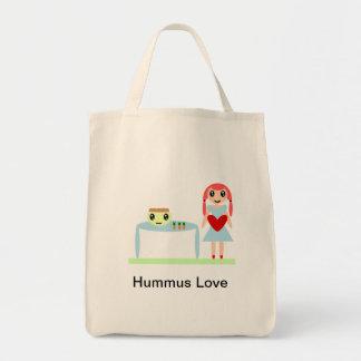 "Amor de Hummus ""amo hummus "" Bolsa Tela Para La Compra"