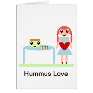 """Amor de Hummus """"amo hummus """" Tarjeta De Felicitación"""
