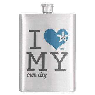Amor de Huston Tejas I mi propia ciudad Cantimploras
