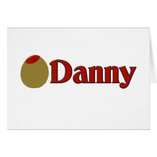 (Amor de I) Danny verde oliva Tarjeta De Felicitación