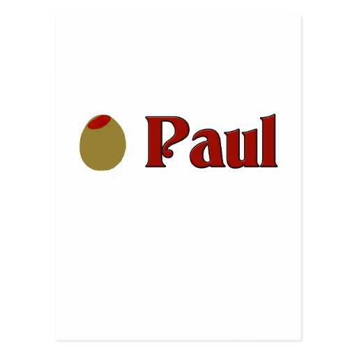 (Amor de I) Paul verde oliva Tarjeta Postal