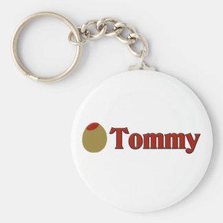 (Amor de I) Tommy verde oliva Llavero Redondo Tipo Pin