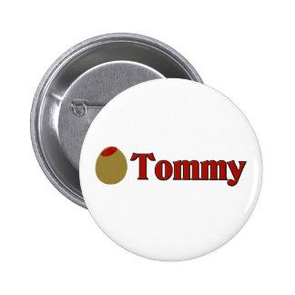 (Amor de I) Tommy verde oliva Pin Redondo De 2 Pulgadas
