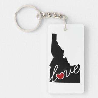 ¡Amor de Idaho!  Regalos para los amantes de la Llavero Rectangular Acrílico A Doble Cara