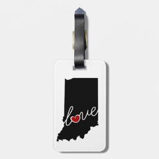 ¡Amor de Indiana!  Regalos para EN los amantes Etiqueta Para Equipaje