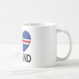 Amor de Islandia Taza Básica Blanca