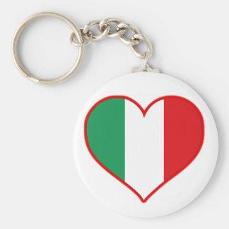 Amor de Italia Llavero Redondo Tipo Pin