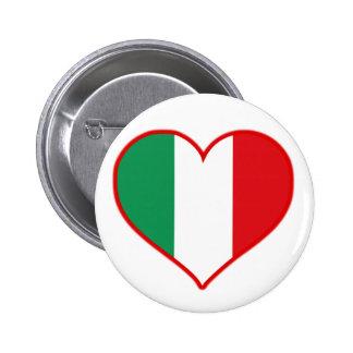 Amor de Italia Pin Redondo De 2 Pulgadas