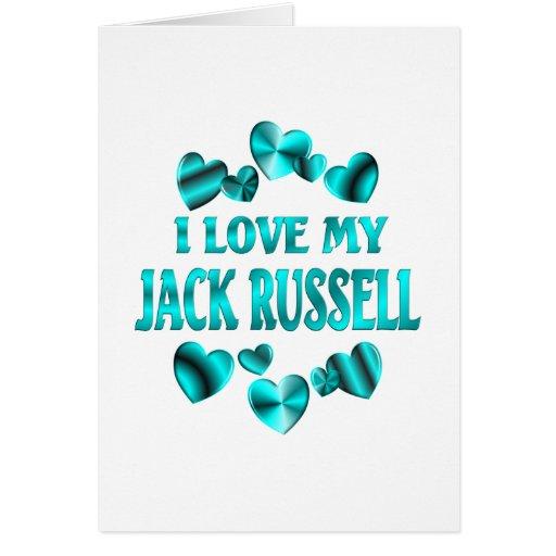Amor de JACK RUSSELL Felicitación
