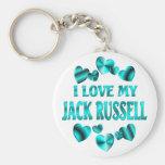 Amor de JACK RUSSELL Llaveros Personalizados