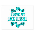 Amor de JACK RUSSELL Tarjetas Postales