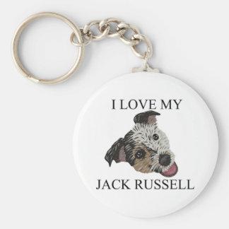 ¡Amor de JACK RUSSELL TERRIER Llavero Personalizado