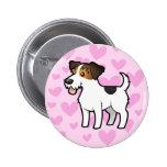 Amor de Jack Russell Terrier Pin Redondo 5 Cm