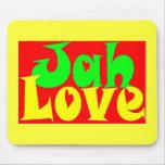 Amor de Jah Alfombrillas De Ratones