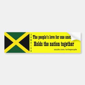 Amor de Jamaica para uno otras pegatinas para el p Pegatina Para Auto