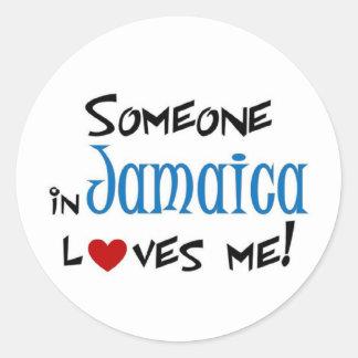 Amor de Jamaica Pegatina Redonda