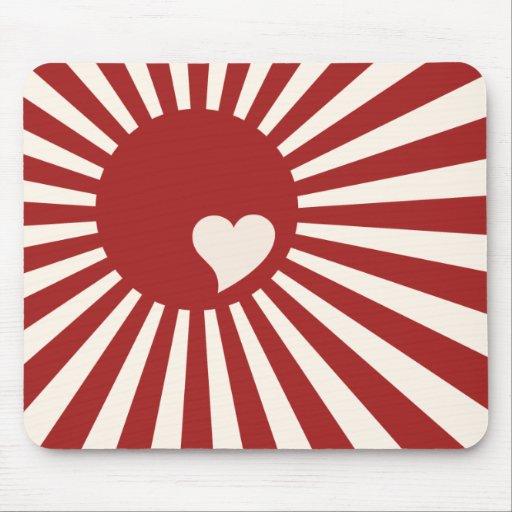 Amor de Japón Alfombrilla De Raton