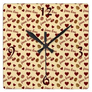 Amor de Java Reloj Cuadrado