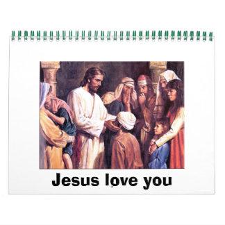 Amor de Jesús usted Calendarios