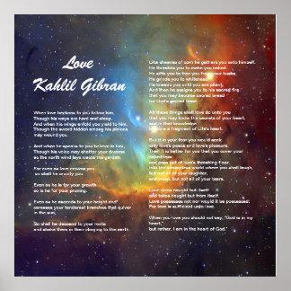 Amor de Kahlil Gibran Póster