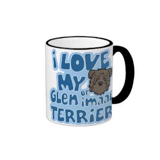 Amor de Kawaii I mi cañada de Imaal Terrier Taza De Dos Colores