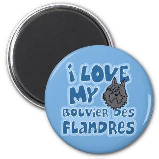 Amor de Kawaii I mi DES Flandres de Bouvier Imán Redondo 5 Cm