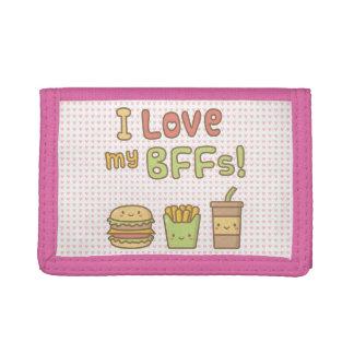 Amor de Kawaii I mi Doodle de la comida de BFFs