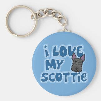 Amor de Kawaii I mi escocés Llaveros Personalizados