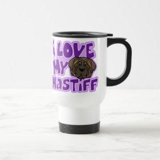 Amor de Kawaii I mi mastín Brindle Taza De Café