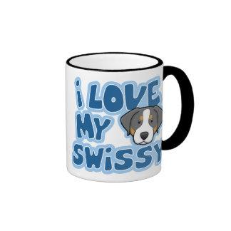 Amor de Kawaii I mi Swissy Taza De Dos Colores