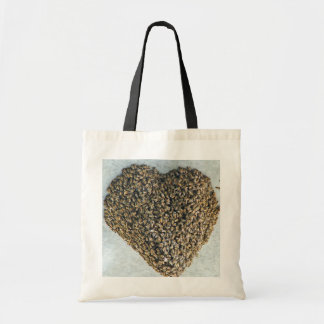 Amor de la abeja bolsas lienzo