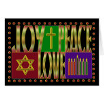 Amor de la alegría de la paz tarjeta