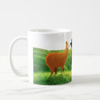 """Amor de la alpaca - """"el vaya del te de Que bien """" Tazas"""