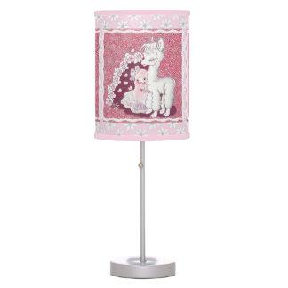 Amor de la alpaca lámpara de mesa