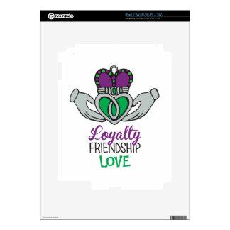 Amor de la amistad de la lealtad iPad 2 skin